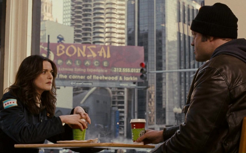 Starbucks Coffee Enjoyed by Vince Vaughn as Frederick Claus & Rachel Weisz as Wanda Blinkowski in Fred Claus