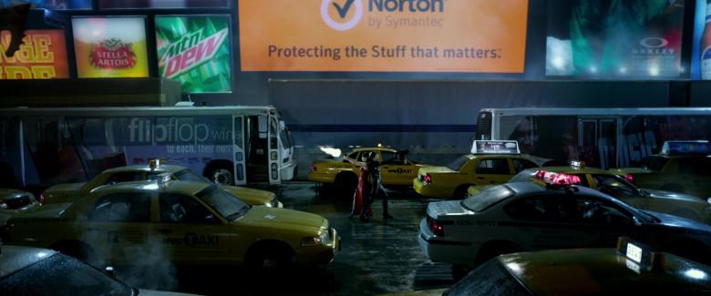 Stella Artois, Norton by Symantec, Oakley, Flip Flop Wines in Resident Evil Retribution (2012)
