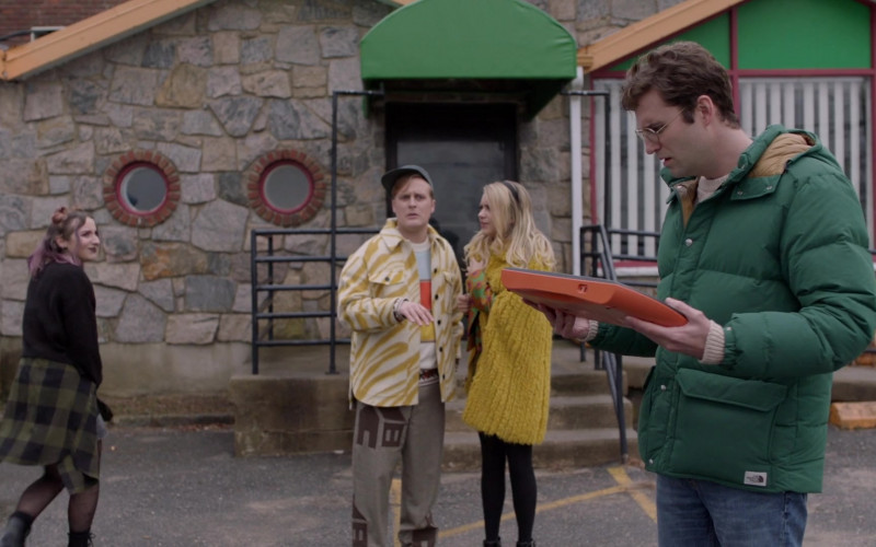The North Face Down Sierra 3.0 Green Parka Jacket of John Paul Reynolds as Drew Gardner in Search Party S04E09