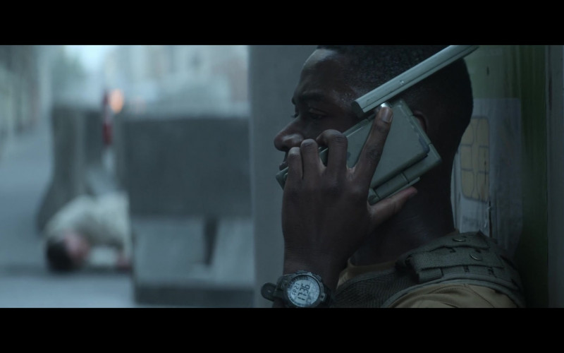 Timex Marathon Men's Watch of Damson Idris as Lt. Thomas Harp in Outside the Wire (1)