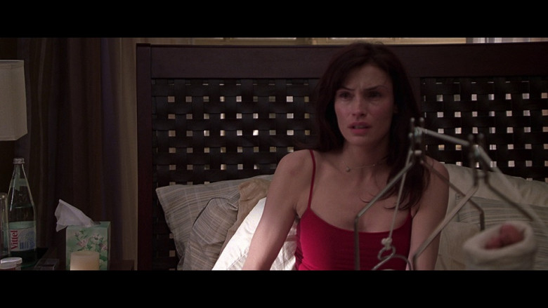 Vittel Water Bottle of Famke Janssen as Agatha 'Aggie' Conrad in Don't Say a Word (2001)