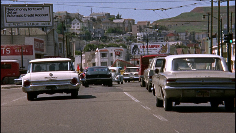 Wells Fargo Bank Billboard in Bullitt (1968)