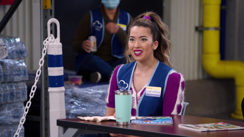 YETI Rambler Tumbler of Nichole Sakura as Cheyenne in Superstore S06E06 Biscuit (2021)