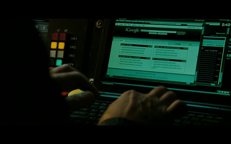 iGoogle WEB Portal in The Taking of Pelham 123 (2009)