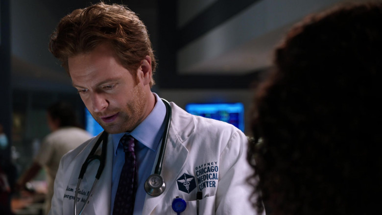 3M Littmann Stethoscope of Nick Gehlfuss as Dr. Will Halstead in Chicago Med S06E05 (2)