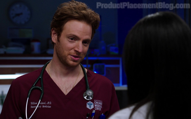 3M Littmann Stethoscope of Nick Gehlfuss as Dr. Will Halstead in Chicago Med S06E06 (1)