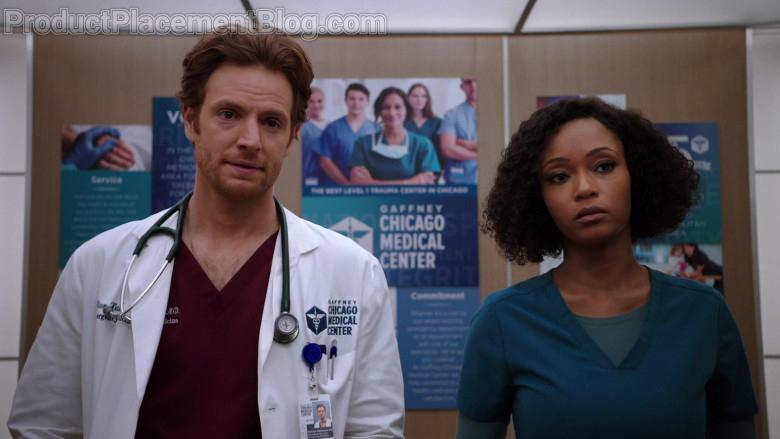 3M Littmann Stethoscope of Nick Gehlfuss as Dr. Will Halstead in Chicago Med S06E07 (4)