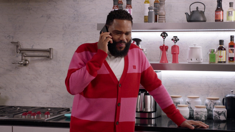 Acne Studios Men's Cardigan of Anthony Anderson as Dre in Black-ish S07E10 (1)