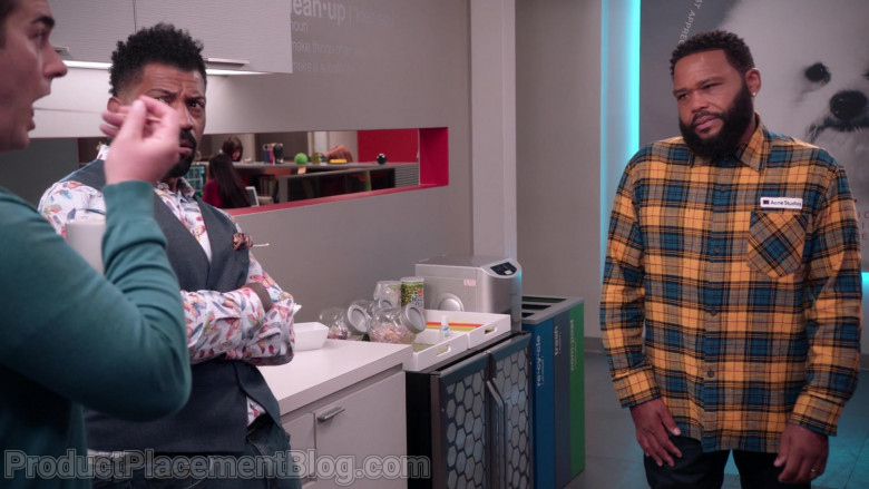 Acne Studios Plaid Shirt of Anthony Anderson as Dre Johnson in Black-ish S07E12 (1)