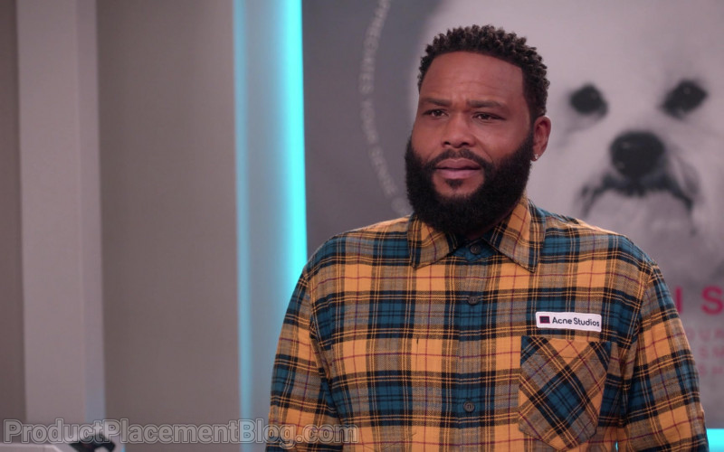 Acne Studios Plaid Shirt of Anthony Anderson as Dre Johnson in Black-ish S07E12 (2)