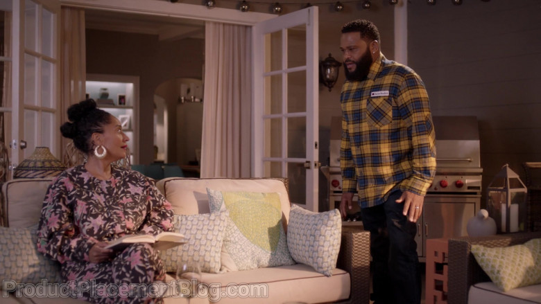 Acne Studios Plaid Shirt of Anthony Anderson as Dre Johnson in Black-ish S07E12 (3)