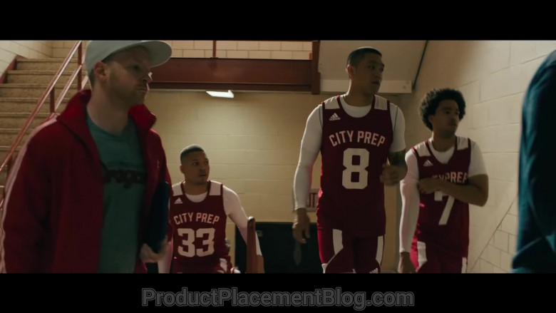 Adidas Basketball T-Shirt and Shorts Sports Outfit of Taylor Takahashi as Alfred Chin in Boogie (2021)