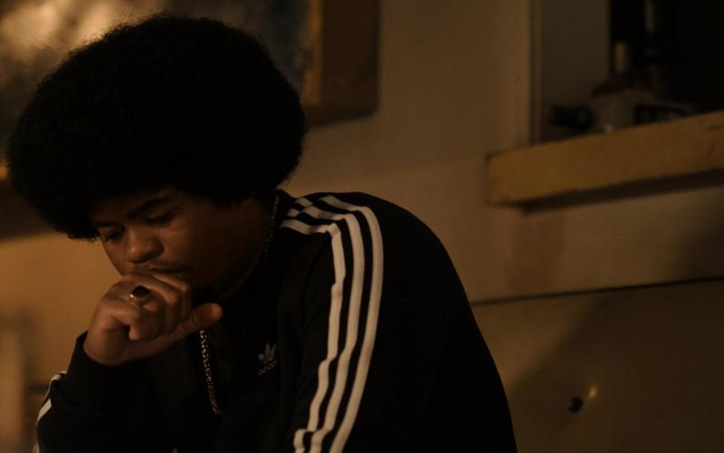 Adidas Black Sweatshirt of Isaiah John as Leon Simmons in Snowfall S04E02 (2)