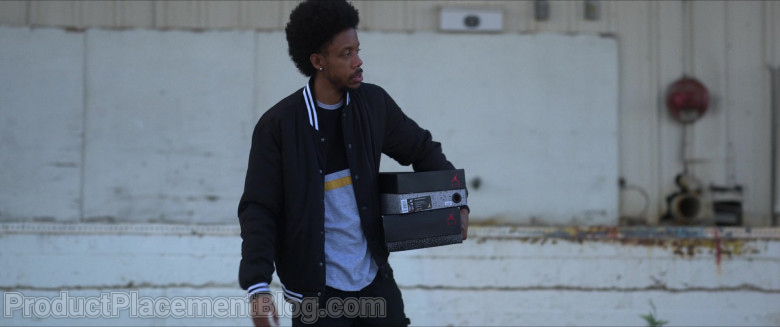 Air Jordan Shoe Boxes Held by Darrell Britt-Gibson as Rayford in Silk Road (2)