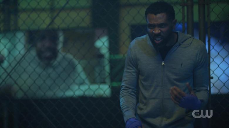 AllSaints Men's Hoodie Worn by Actor in Black Lightning S04E03 TV Show (1)