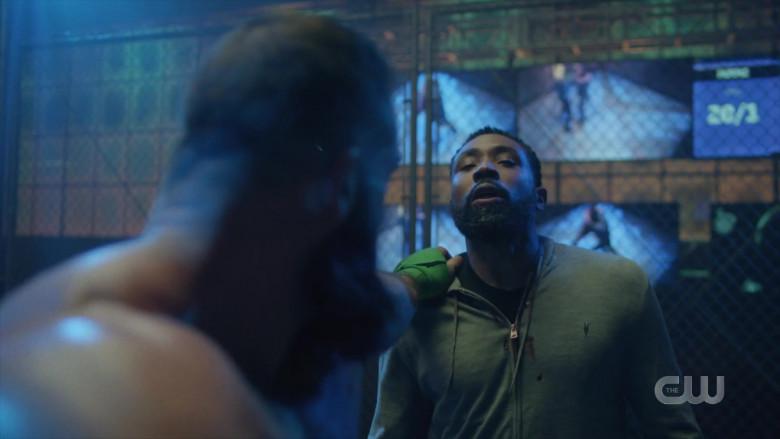 AllSaints Men's Hoodie Worn by Actor in Black Lightning S04E03 TV Show (2)