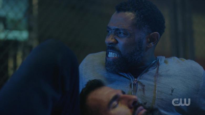 AllSaints Men's Hoodie Worn by Actor in Black Lightning S04E03 TV Show (3)