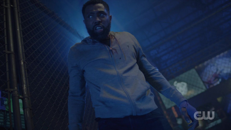 AllSaints Men's Hoodie Worn by Actor in Black Lightning S04E03 TV Show (4)