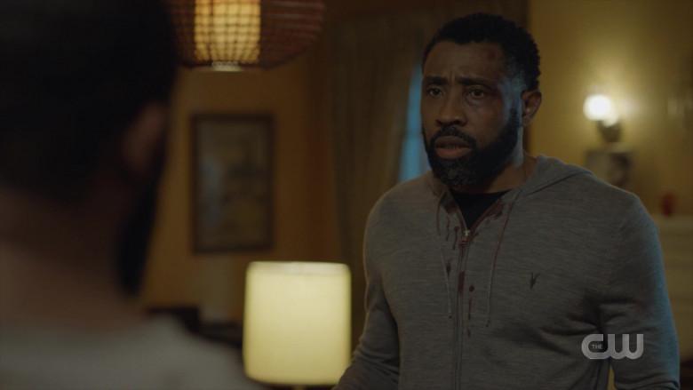 AllSaints Men's Hoodie Worn by Actor in Black Lightning S04E03 TV Show (5)