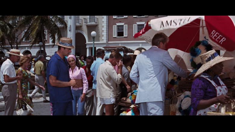 Amstel Beer Umbrella in Thunderball (1965)