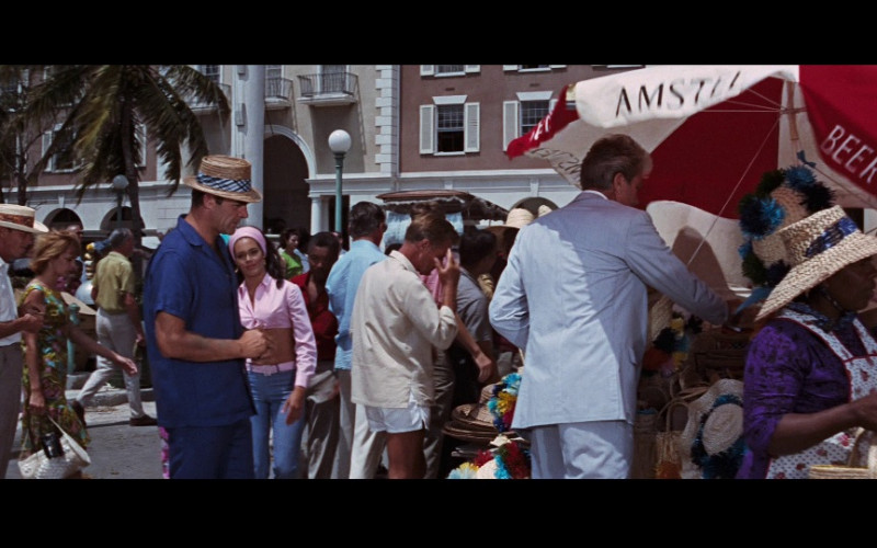 Amstel Beer Umbrella in Thunderball (1965)