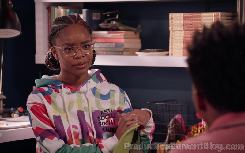 Anti Social Social Club Hoodie of Marsai Martin as Diane in Black-ish S07E12 High Water Mark (2021)