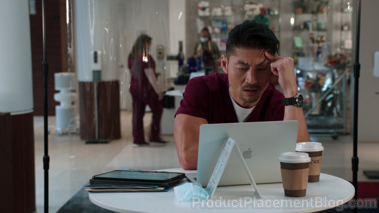 Apple MacBook Laptop Used by Brian Tee as LCDR Dr. Ethan Choi in Chicago Med S06E06 Don't Want to Face This Now (2021)