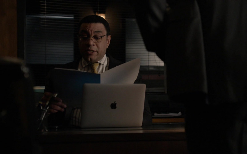 Apple MacBook Laptop Used by Harry Lennix as Harold Cooper in The Blacklist S08E08 Ogden Greeley (No. 40) (2021)