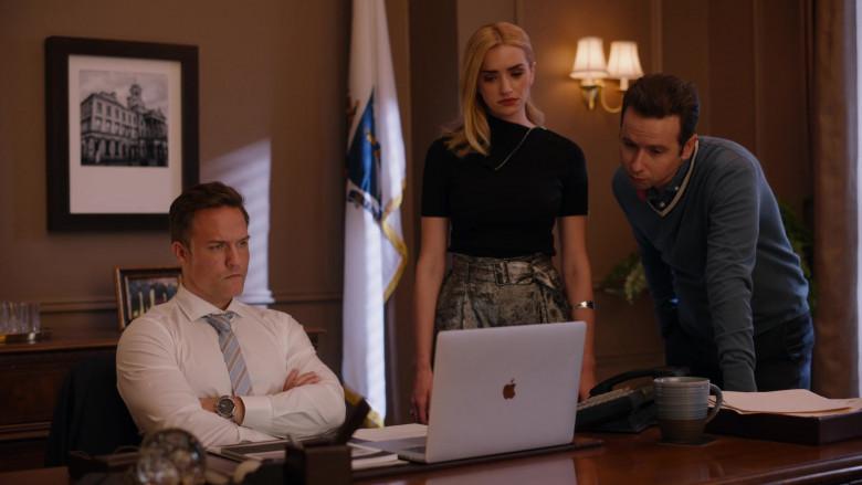 Apple MacBook Laptop of Scott Porter as Mayor Paul Randolph in Ginny & Georgia S01E08 TV Show