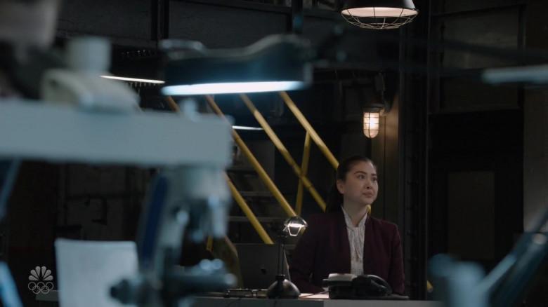 Apple MacBook Pro Laptop of Laura Sohn as Agent Alina Park in The Blacklist S08E07