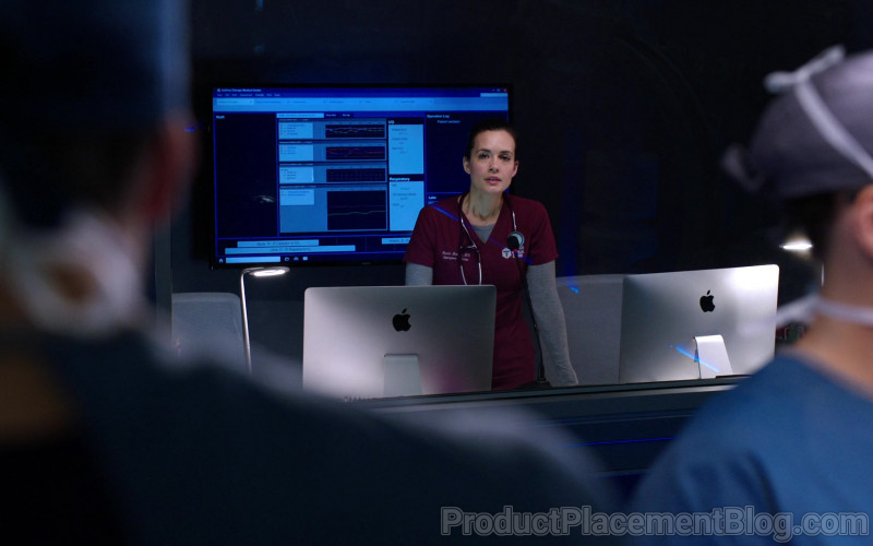 Apple iMac Computers in Chicago Med S06E06 (3)