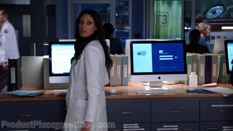Apple iMac Computers in Chicago Med Season 6 Episode 7 TV Show (2)
