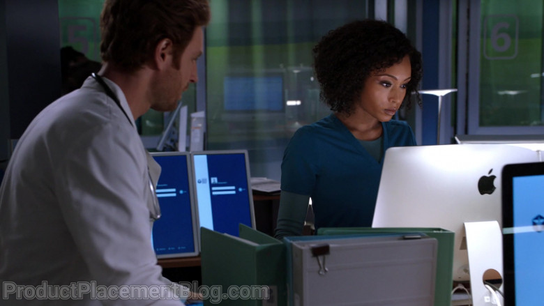 Apple iMac Computers in Chicago Med Season 6 Episode 7 TV Show (4)