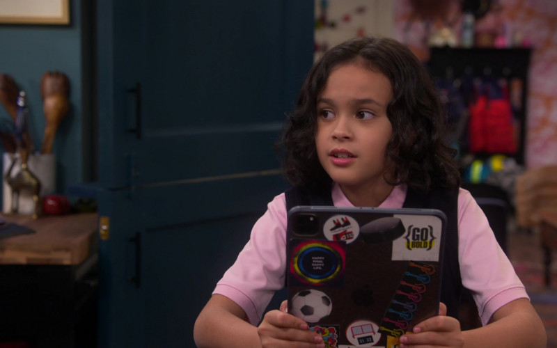 Apple iPad Tablet Used by Oliver De Los Santos as Daniel in Punky Brewster S01E10 Mother's Day (2021)
