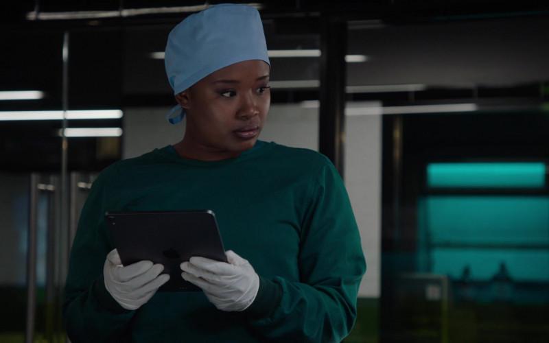 Apple iPad Tablet of Faustina Agolley as Edwina Gharam in Harrow S03E03 Tarde Venientibus Ossa (2021)