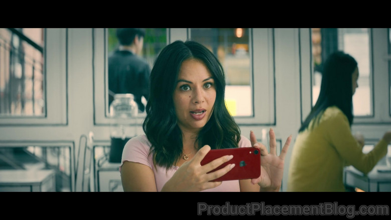 Apple iPhone (Red) Smartphone of Janel Parrish as Margot Song Covey in To All the Boys Always and Forever