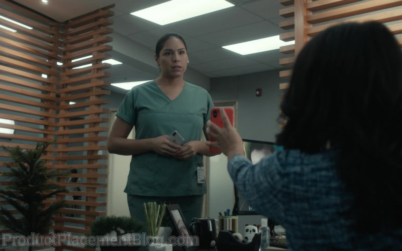 Apple iPhone Smartphone Held by Actress in Coroner S03E03 Spirits (2021)