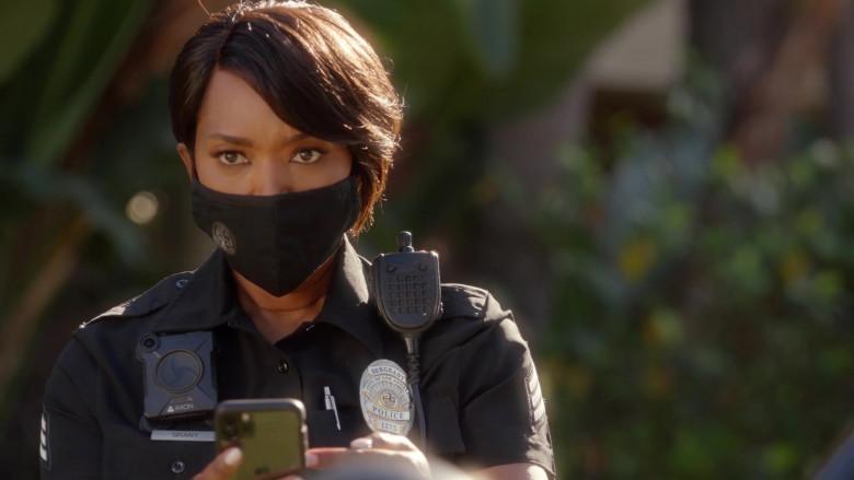 Apple iPhone Smartphone of Angela Bassett as Athena Carter Grant Nash, LAPD patrol sergeant in 9-1-1 S04E03 Future Tens