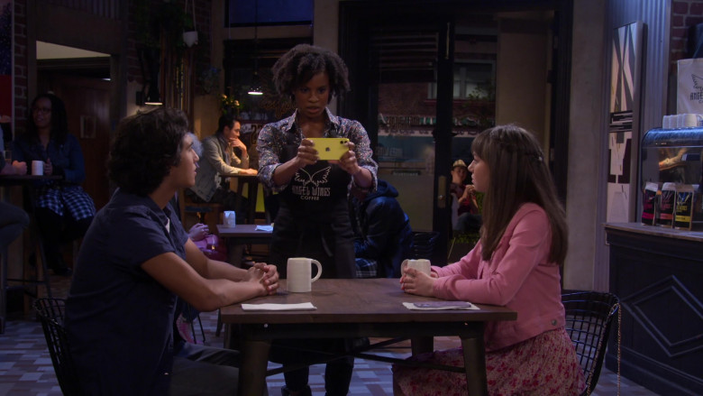 Apple iPhone Smartphone of Tai Brown as Barista in Punky Brewster S01E03 Two First Dates (2021)