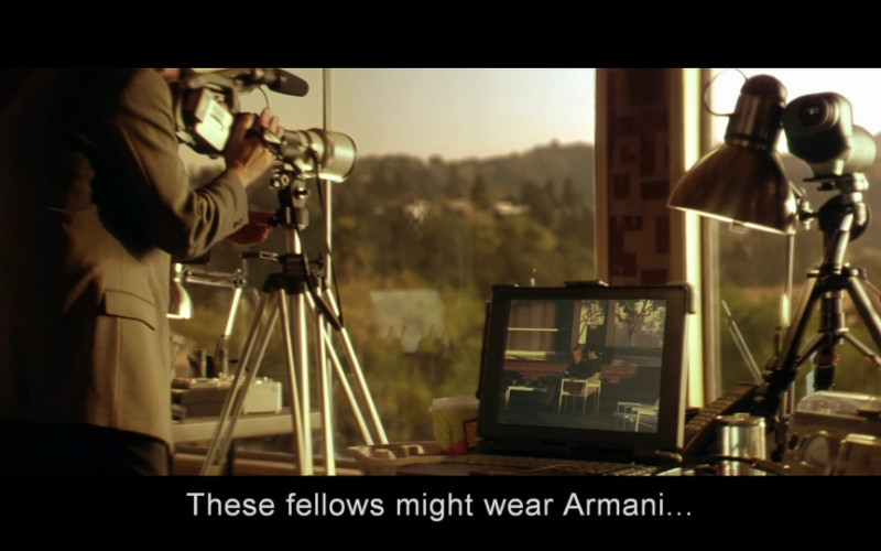 Armani Menswear in Swordfish (2001)