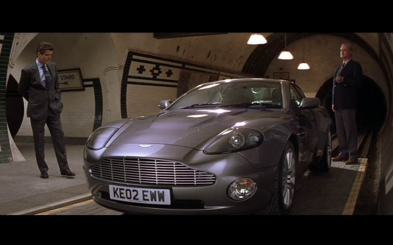 Aston Martin Vanquish Sports Car of Pierce Brosnan as James Bond, an MI6 agent in Die Another Day (2002)