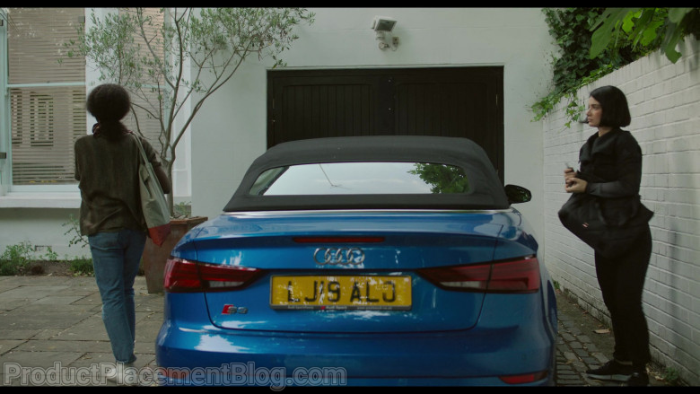 Audi S3 Blue Convertible Car of Eve Hewson as Adele in Behind Her Eyes S01E02 Lucid Dreaming (2021)