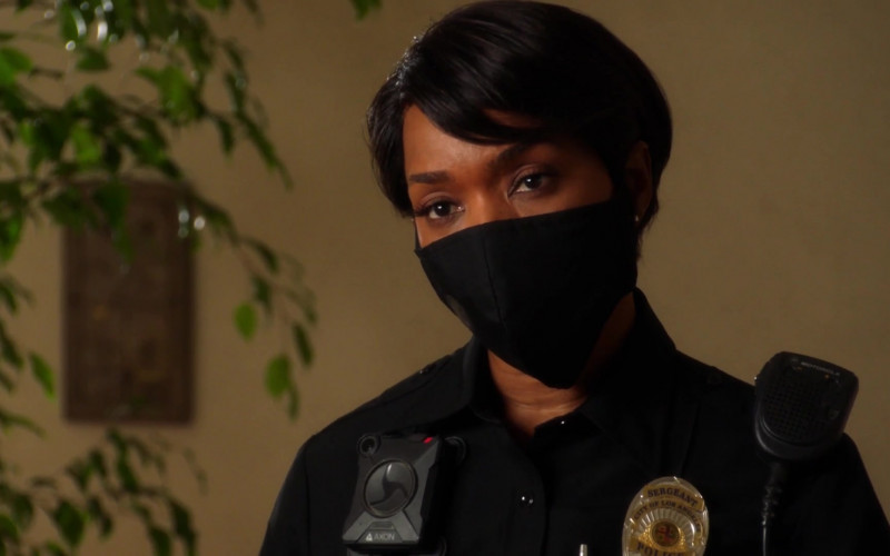 Axon Body Camera Worn by Angela Bassett as Athena Carter Grant Nash, LAPD patrol sergeant in 9-1-1 S04E03 TV Series (1)