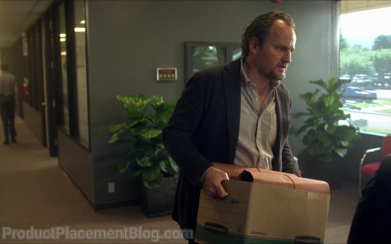 Bankers Box Held by Jason Clarke as Richard 'Rick' Bowden in Silk Road (2021)