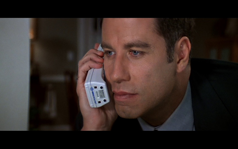 BellSouth Telephone Held by Actor John Travolta as Sean Archer in FaceOff (1997)