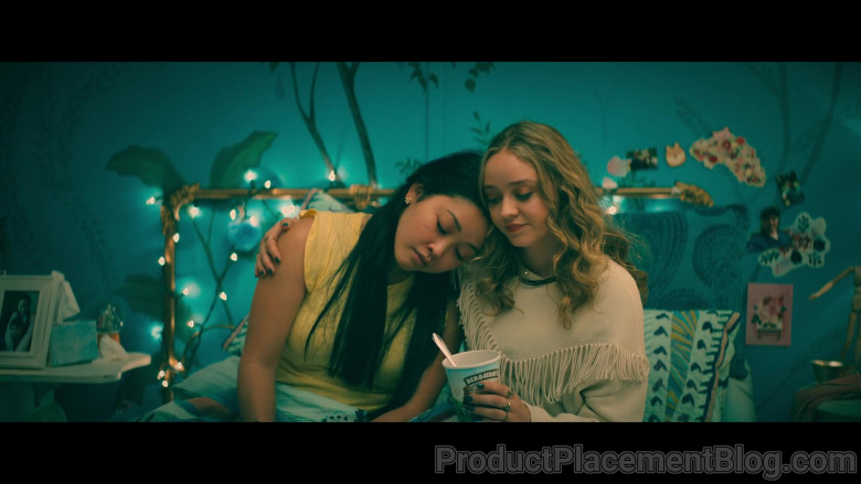 Ben & Jerry's Ice Cream Enjoyed by Lana Condor as Lara Jean and Madeleine Arthur as Christine in To All the Boys Always and Forever (1)