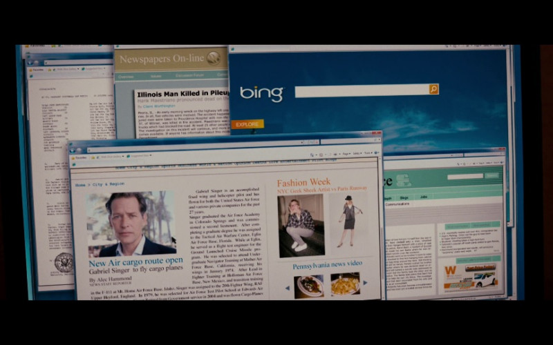 Bing WEB Search Engine in Red (2010)