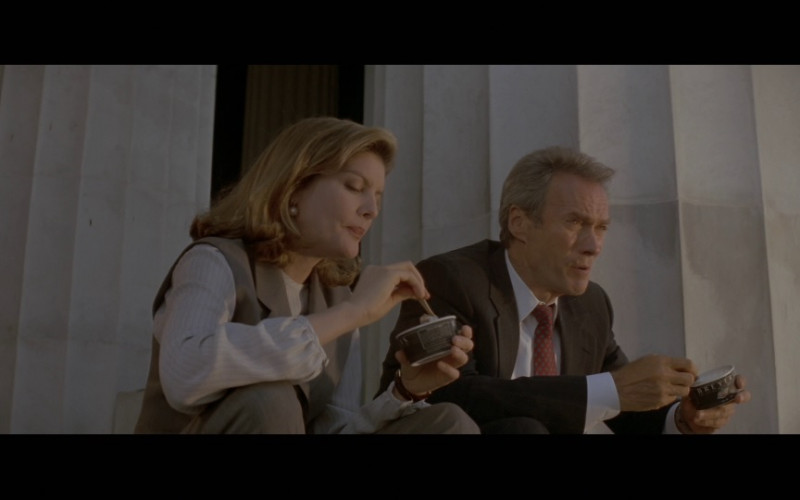 Breyers Ice Cream Enjoyed by Rene Russo and Clint Eastwood in In the Line of Fire (1993)