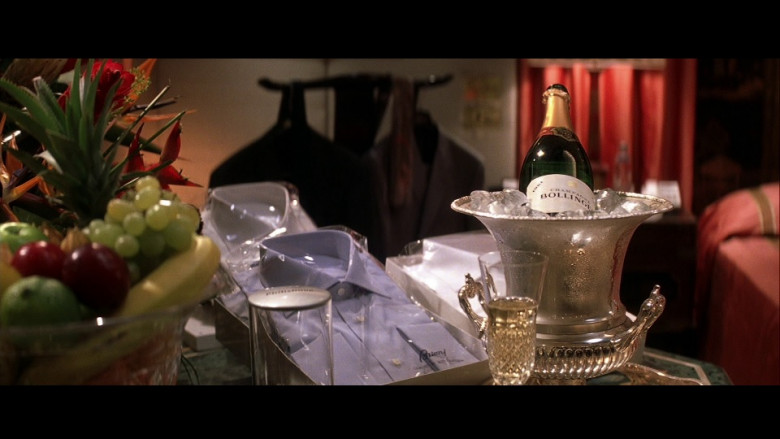 Brioni Men's Shirts and Bollinger Champagne in Die Another Day (2002)