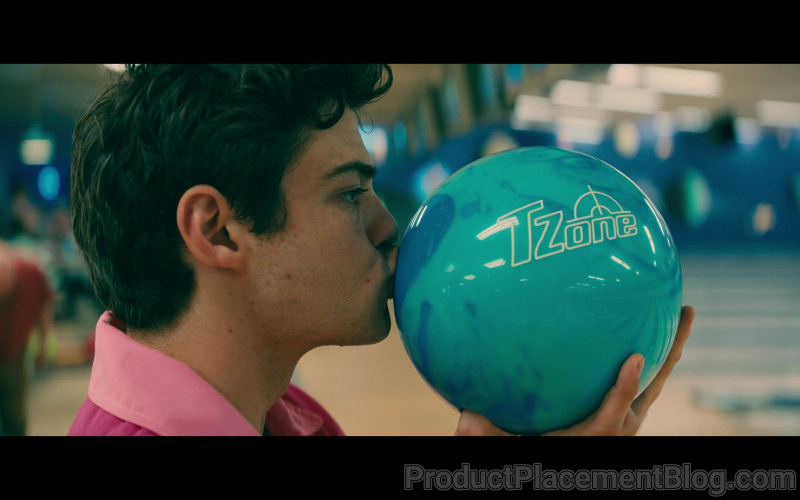 Brunswick TZone Bowling Ball Held by Noah Centineo as Peter Kavinsky in To All the Boys Always and Forever (2021)